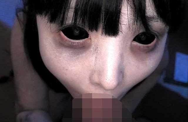 ◆ホラー◆『うわぁ!もうやめてぇえ!』全眼痴女の幽霊が犯す口内発射!主観のフェラ抜き恐怖映像!!