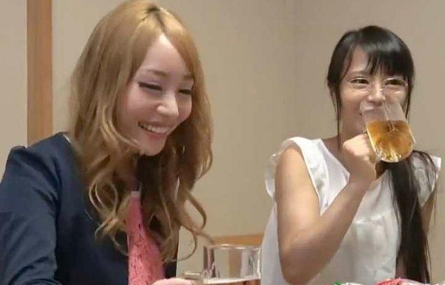 ◆素人ナンパ企画◆相席屋で出会った正反対の女子2人組!ギャルのSEXを見てメガネちゃんも次第にエロくなり・・・