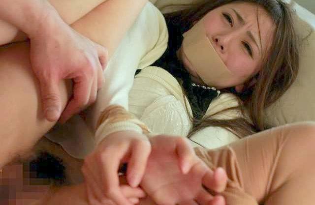 ◆レイプ◆『あぁッ離して…!』中年オヤジが美人カテキョを妄想レイプ!拘束して身動き取れない美女を犯しまくる中出しSEX