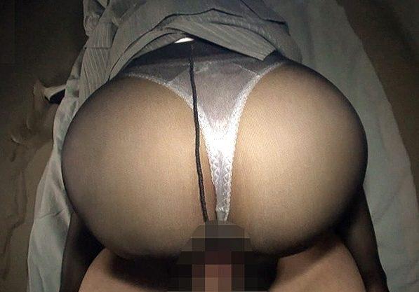 ◆パンスト◆『いっぱい出してぇ♥』激カワ美女の巨尻に萌えるハメ撮りSEX!暗がりで犯されて大量膣内射精で絶頂