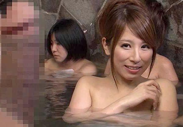 ◆温泉◆『ここは女湯ですよ??』混浴と勘違いして女湯に突撃!ギンギンチ○ポに発情した巨乳美女となし崩し生ハメ性交w