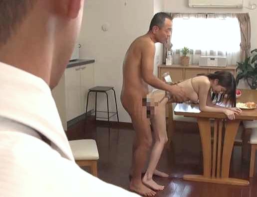 ◆人妻◆『あなた、見ないで…♥』息子の嫁を犯す禁断不倫の拘束Fuck!鬼畜な義父が見せつける鬼凌辱Fuck!!
